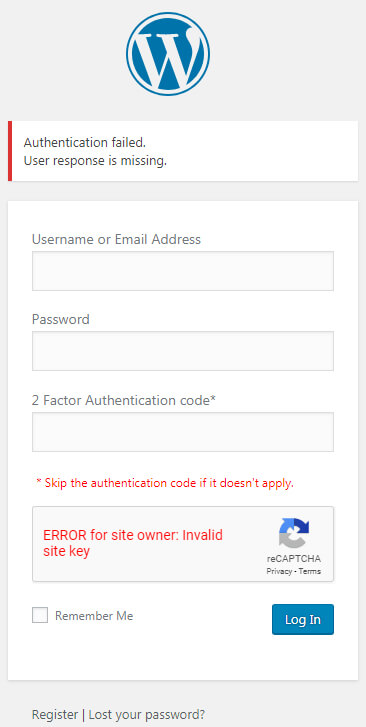 How to fix 'Error for site owner invalid site key' - Yet