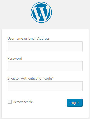 The WordPress login to your blog or website is more secured with 2 FA (a form of multifactor authentification)